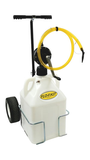 """FLO-FAST™ Single 15 Gallon Versa Cart System - Natural Container - 12"""" Tires"""